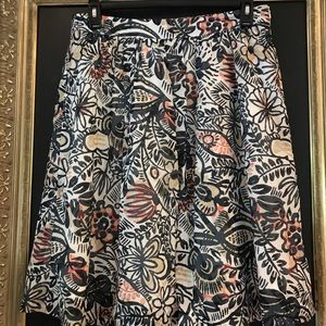 NWT LOFT skirt lined print